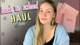 BACK TO SCHOOL SUPPLIES | Shopping Haul 2020