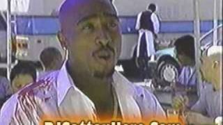 Tupac Shakur interview on set of 2 Of Amerika's Most Wanted (1996)
