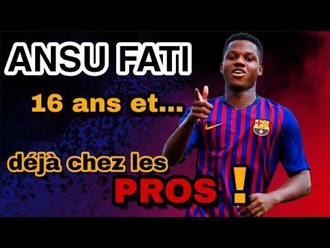Ansu Fati s'entraine avec les pros à 16 ans seulement !!!