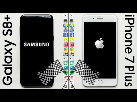 Samsung Galaxy S8+ vs iPhone 7 Plus in una gara di velocità senza freni