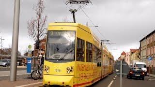 preview picture of video 'LVB Straßenbahn Leipzig Linie 3 nach Knautkleeberg'