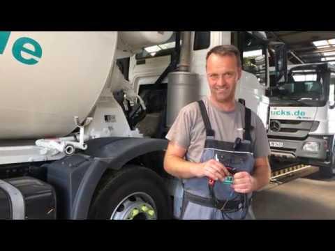 Notentleerung Betonfahrmischer mit Überbrückung der Notstopfunktion