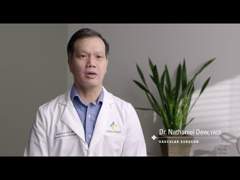 Thumbnail of Dr. Dew on saving limbs with bypass procedures video.