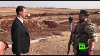 الأسد يشرف على صليات مدفعية في إدلب