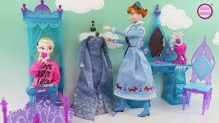 El Dormitorio de Elsa - Historia con muñecas Ana y Elsa Frozen