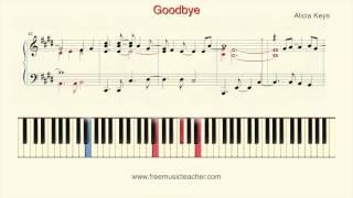 """How To Play Piano: Alicia Keys """"Goodbye"""" Piano Tutorial by Ramin Yousefi"""