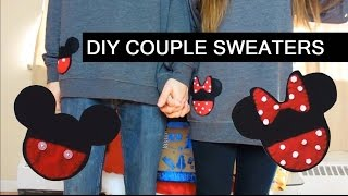 DIY Mickey And Minnie Matching/Couple Sweaters