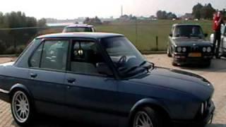 BMW E28 540D And E28 M5 3.8 At E28 Meeting