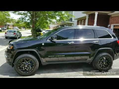 2017 Jeep Grand Cherokee Limited WK2 with larger hybrid tires.