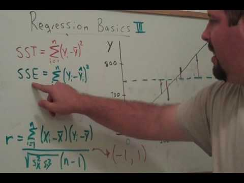 Regression 3: Sums of Squares and R-squared