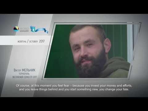 Video feedback of Viktor Melnyk, graduate of the Ukraine-Norway project