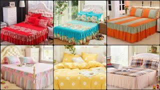 Classy And Outstanding Cotton Fancy Bedsheets/Bedspread With Frill/Cotton Comforter Sets