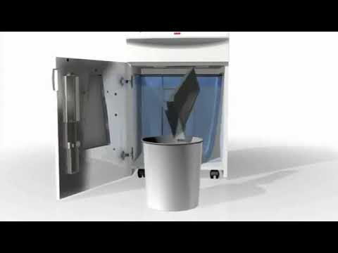 Video of the HSM SECURIO P36 HS-5 + Metal Detection Shredder