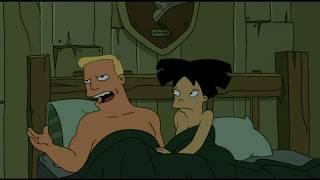 Futurama ITA - Il Tentacolo si impossessa di Zapp e Amy a letto!!