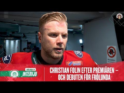 Youtube: Oacceptabel förlust menar Folin, hör honom efter debuten här