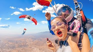Doing my Makeup while Skydiving!