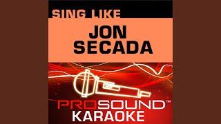 Solo Tu Imagen (Karaoke Instrumental Track) (In the Style of Jon Secada)