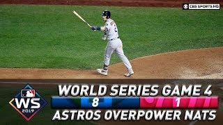 World Series tied as Houston takes Game 4 in blowout fashion | WORLD SERIES 2019 | CBS Sports HQ