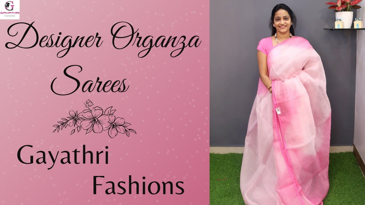 """<p style=""""color: red"""">Video : </p>Designer organzas 