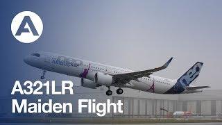 A321LR First Flight from Hamburg