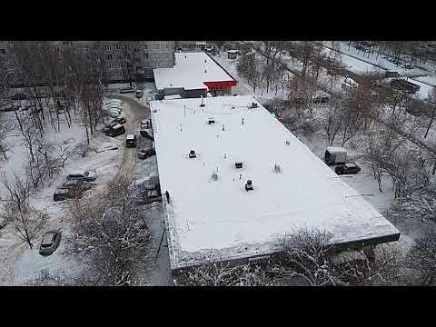Горы снега на крыше!!!