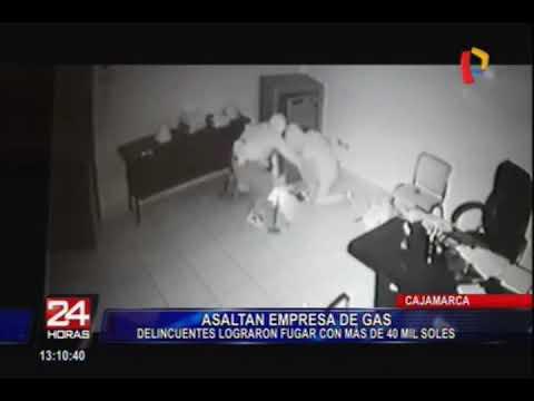 Cajamarca: asaltan empresa envasadora de gas y se llevan 40 mil soles