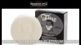 Prohibition Style: Fine Accoutrements Platinum After Shave And Shave Soap Review