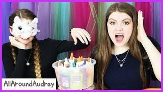Funny 3 Color Glue Slime Challenge / AllAroundAudrey