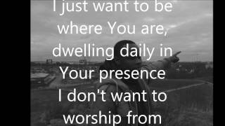 DON MOEN i just want to be where you are