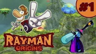 Начало  прохождение Rayman Origins #1