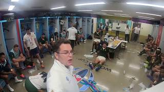 Go inside the change room of the Springboks during the RWC final and experience the genius of coach Rassie Erasmus in motivating his players. Siya Kolisi, Duane Vermeulen and Handre Pollard recall the impact of his words.