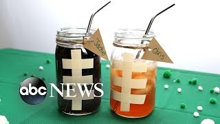 DIY Super Bowl mugs are sure to be a touchdown at your party