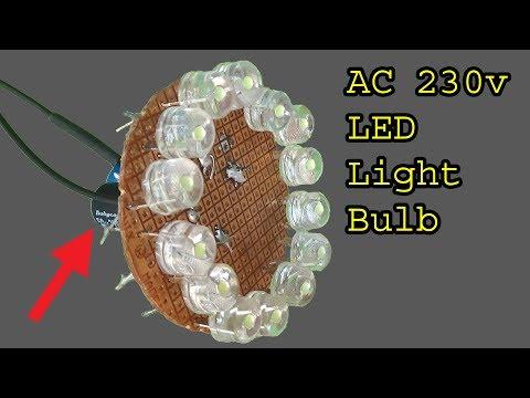 How to make 230 volt Brightest Led light bulb, diy super bright led light bulb