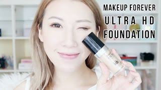 FIRST IMPRESSIONS | MUFE ULTRA HD FOUNDATION 10 HOUR REVIEW (ENG SUBS)