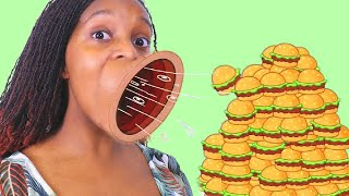 TRY NOT TO EAT Watching These Food Skits! 🍔 - Onyx Family