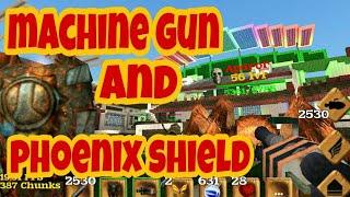 Block Story 13.0.1 Machine gun and phoenix shield. Новое оружие пулемет и щит Феникса.