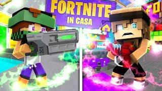 1v1 Con la MITRAGLIETTA NUCLEARE! - FORTNITE IN CASA su Minecraft ITA
