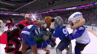 Матч Звезд 2015: драка маскотов / KHL ASG