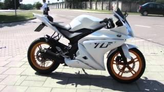Yamaha Yzf R125 180 Malossi Walk Around And R6 Exhaust