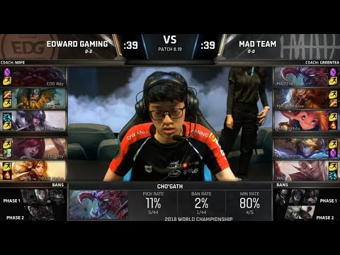EDG (iBoy Xayah) VS MAD (Uniboy Zoe) Highlights - 2018 World Championship Group D1 Mp3
