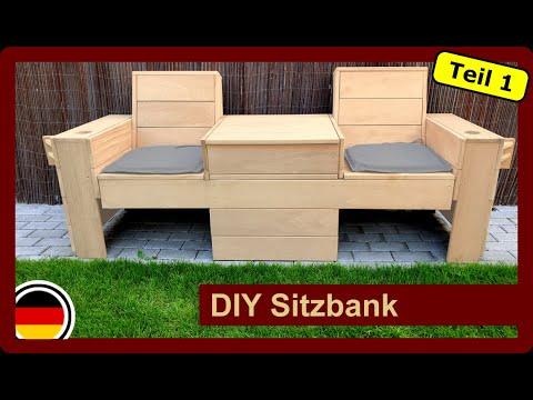 Sitzbank mit klappbaren Tisch für den Garten selber bauen | DIY | Gartenmöbel | TEIL1