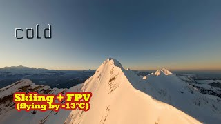 Skiing to fly FPV