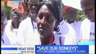 Demos in Machakos County against donkey slaughter house
