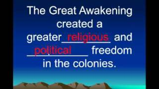 The Great Awakening Overview 1730s and 1740s