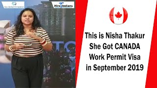 Success story of our client Nisha Thakur who got his work permit for Canada. All the best