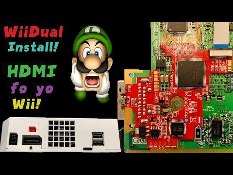 WiiDual Installation Video! True Digital to Digital HDMI Output for the Wii!