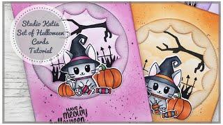 Studio Katia | Meowy Halloween | Set Of Halloween Cards