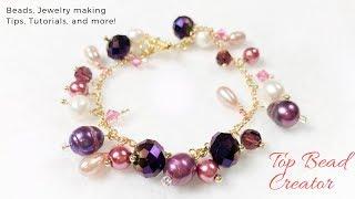 How To Make Charm Bracelet, Diy Bracelet, Jewelry Tutorial