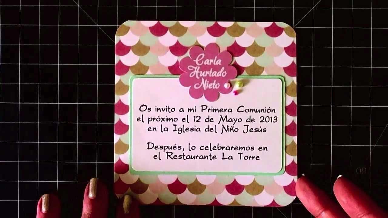 Invitación de comunión #3 - Communion invitation