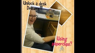 Unlocking a Desk drawer using paperclips !!! | South African Youtuber